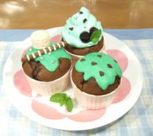 はるかのひとりごと-チョコミントカップケーキ