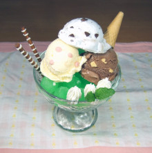 はるかのひとりごと-チョコミントアイス