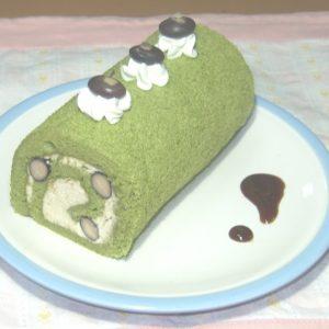 超簡単!抹茶のロールケーキ