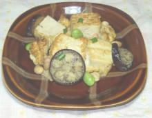 豆腐とナスのチャンプルー