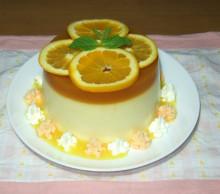 オレンジのパンナコッタ