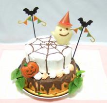 ハロウィンのパンプキンケーキ