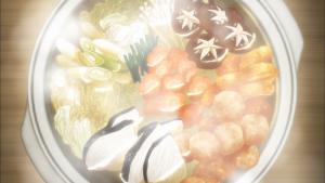 幸腹グラフィティ1話の寄せ鍋のアニメ画像