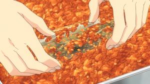 柿の種を塗す