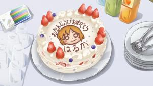 琴浦春香の誕生日ケーキのアニメ画像
