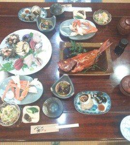 金目鯛夕食1