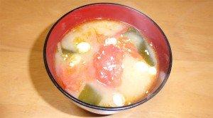 焼きトマト味噌汁