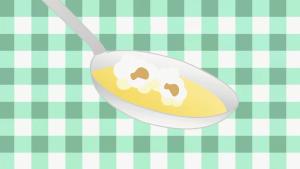 ダブルコーンスープ箸上げ