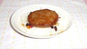 チキンハンバーグドリア