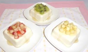 春一番!はちみつ豆腐3種