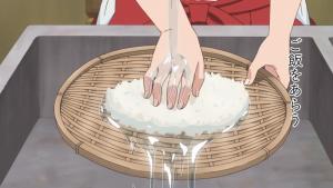 冷や飯を洗う