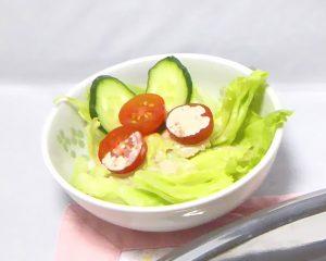 晴風カレー付け合わせのサラダ