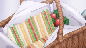 学戦都市アスタリスクユリスが作ったサンドイッチのアニメ画像