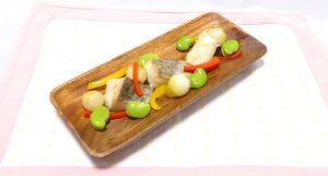 鱈のポワレレモン風味~旬の野菜を添えて~のリアル再現画像