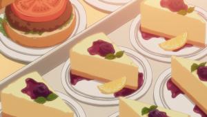 アニメ10話で杵崎あかねさんが作ったと思われるケーキのアニメ画像