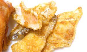 時鮭の皮チップス
