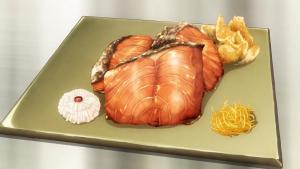 アニメの幽庵焼き画像、アニメ3期14話より引用