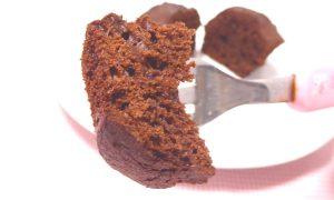 チョコカップケーキの箸上げ画像
