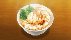 アニメ3期13話より鶏卵の天ぷら丼