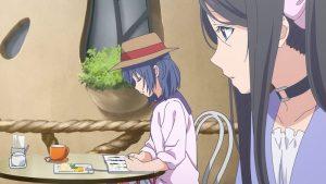 喫茶店でお昼寝の手前:双葉(てこ)と、奥:ことり