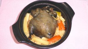 真・中華一番の烏骨鶏ご飯を再現