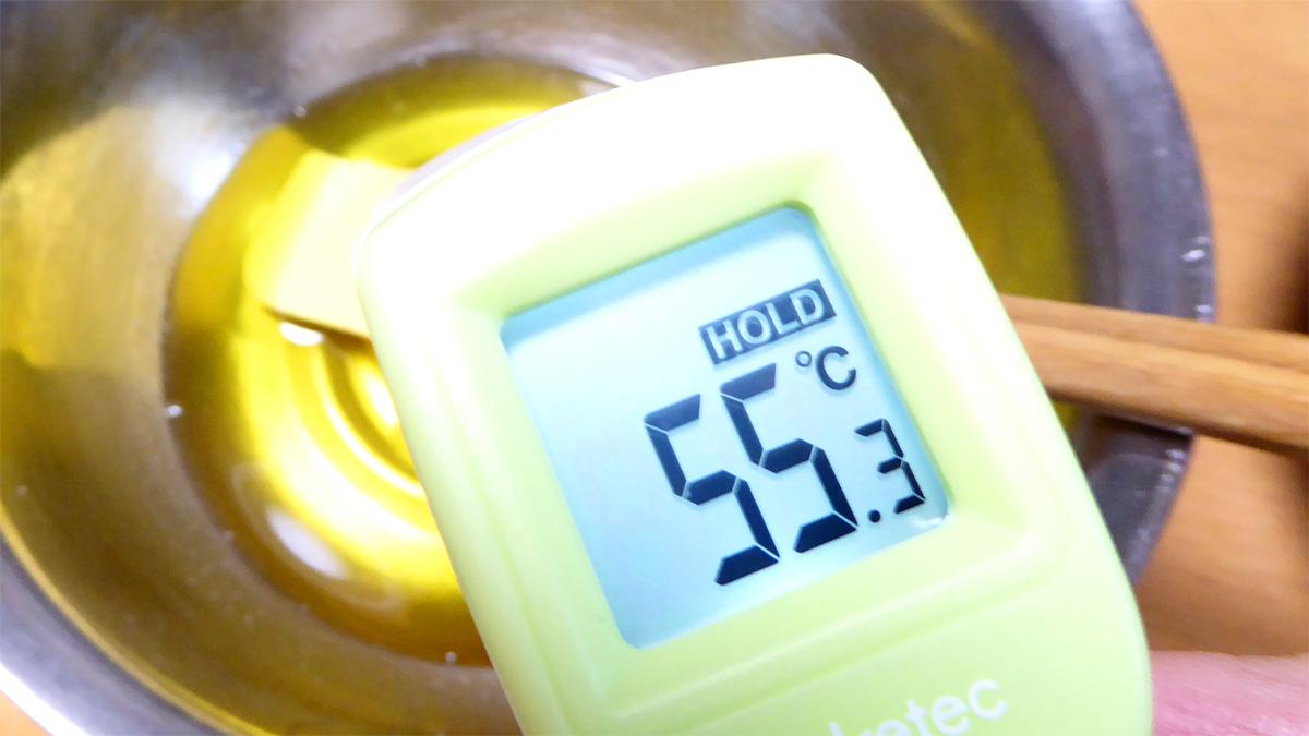 カカオバターの湯煎は温度に注意