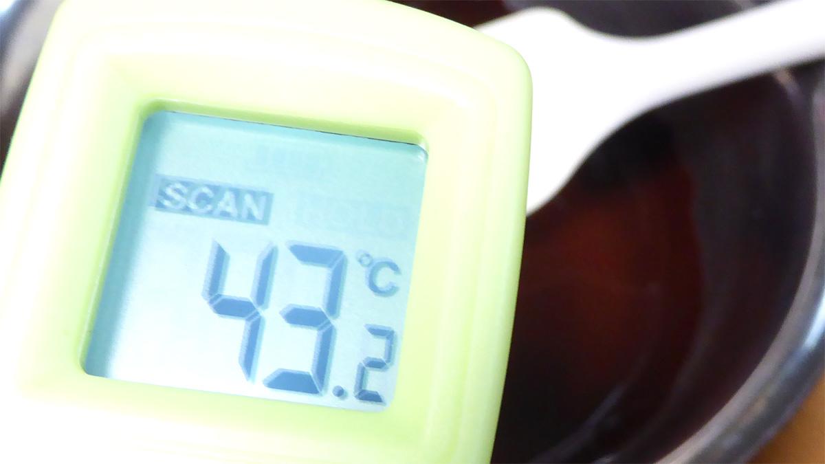 カカオマスの湯煎の温度に注意
