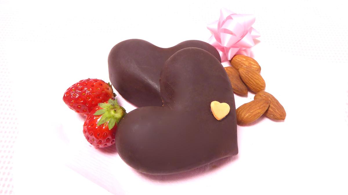はるかのカカオマスから作る本物のバレンタインチョコ完成写真